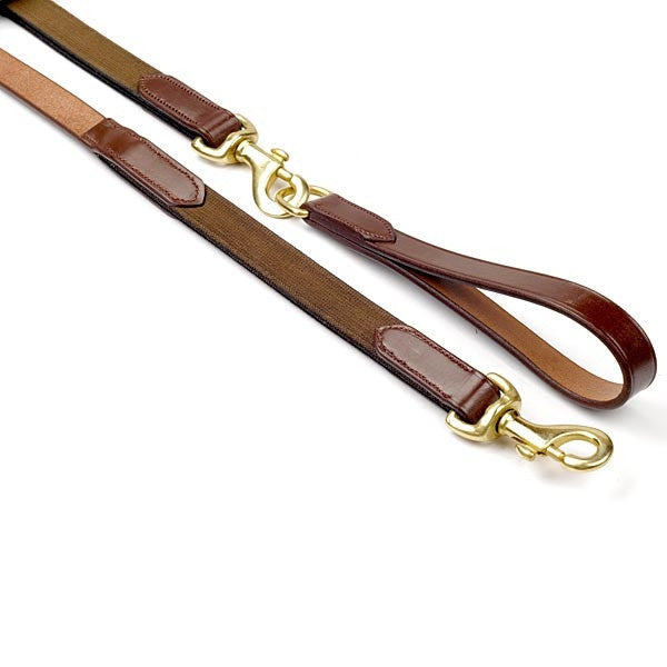 JW English Leather Draw Reins with Elastic