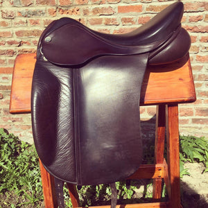 "Ryder Dressage Saddle - used - 17.5"" MW - Brown"