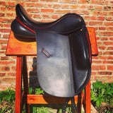 "17.5"" PeeWee Dressage Saddle - Medium - Hardly Used"