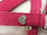 Padded Pink Heart Bling Diamante Headcollar