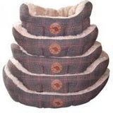 Tweed Dog Bed - with super soft fleece