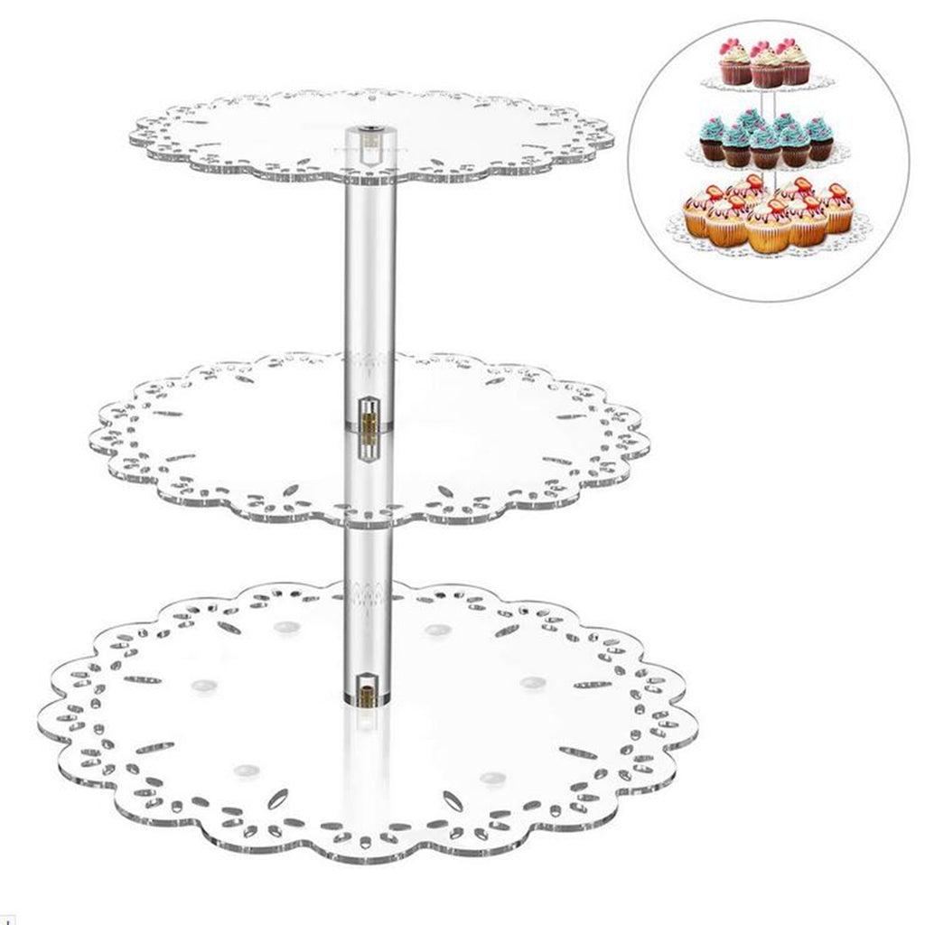 3 Tier Acrylic Cake Stand Storage Rack Dessert Display Holder Wedding Party Decorations