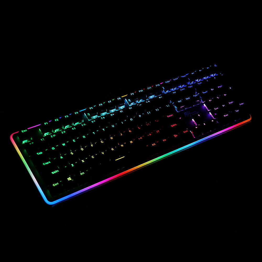 Royal Kludge RK919 108 Key NKRO RGB Side Backlit Mechanical Gaming Keyboard with Wrist Pad