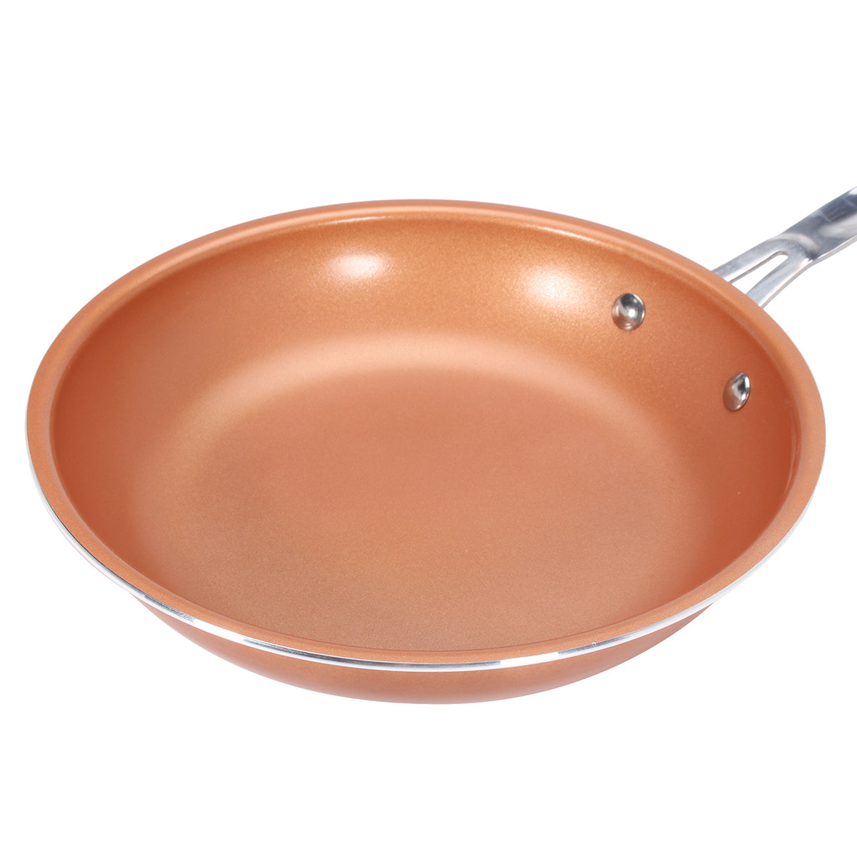 9inch Aluminum Stainless Steel Round Non Stick Copper Frying Pan Cookware Handle