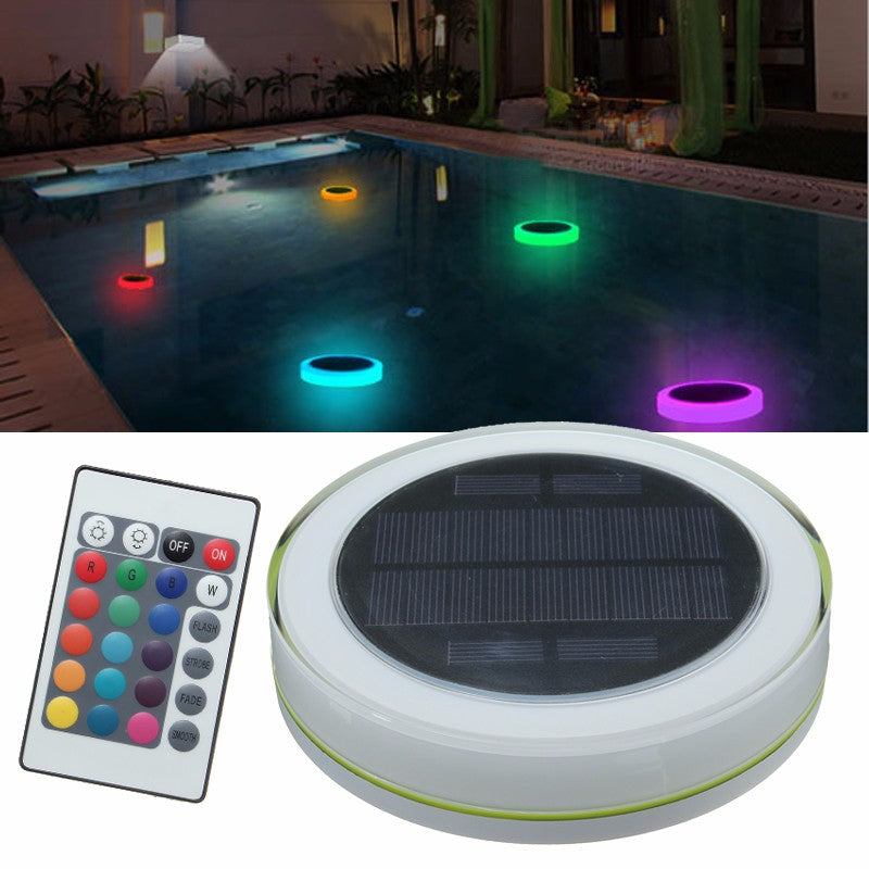 Solar Power RGB Under Water LED Garden Pond Swimming Pool Floating Light