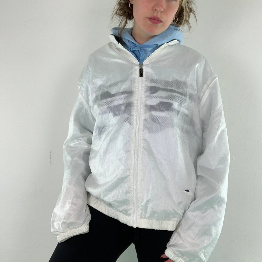 Semi see trough shell jacket // L