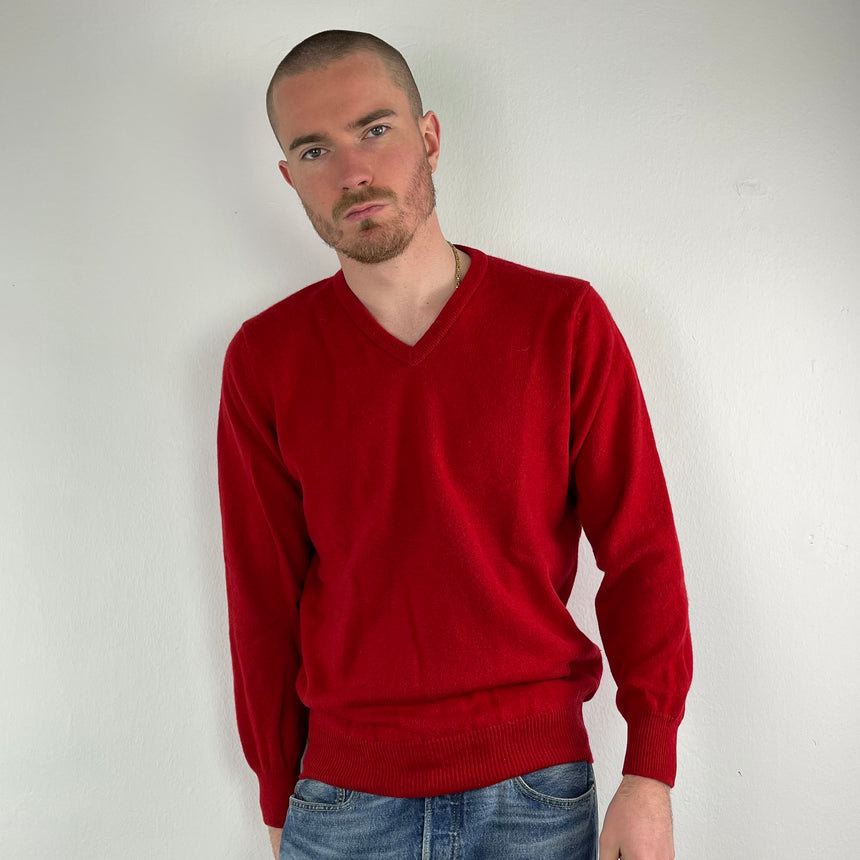 Red New Wool Sweater // M