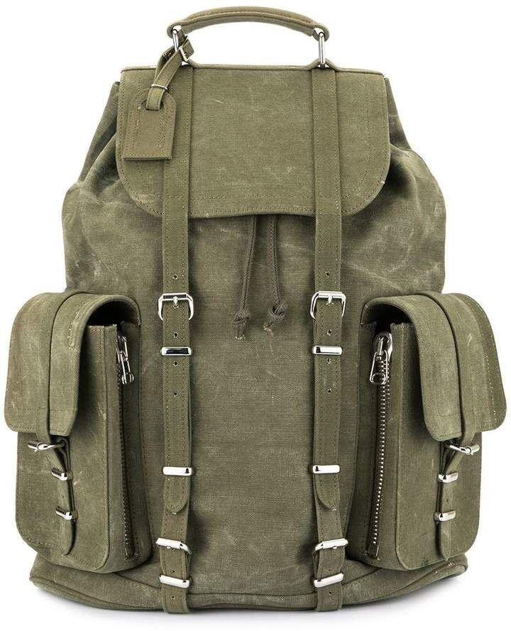 Readymade Green Vintage Cotton Military Backpack
