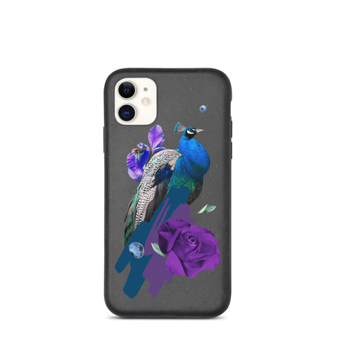 Biodegradable IPhone Case Proud Peacock