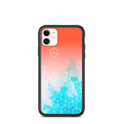 Biodegradable IPhone Case Red/Blue Retro