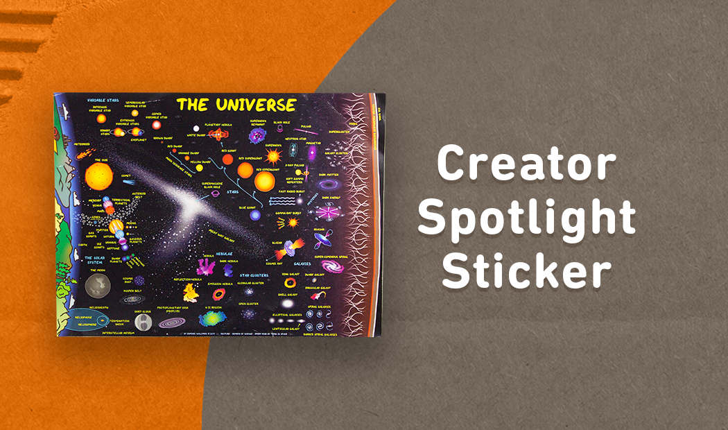 Summer Curiosity Box Creator Spotlight Sticker