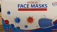 Face Masks, ATSM level 1 Disposable. Box of 50