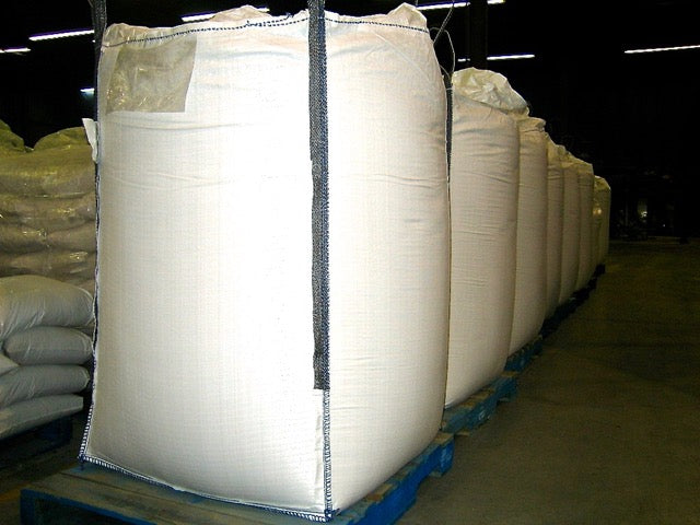 41 x 41 x 55 inch Bulk Bag 2200 pound SWL Skirt Top Discharge Spout Food Grade Baffle