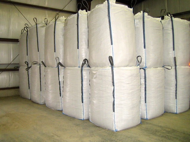 36 x 36 x 52 inch Bulk Bag 2200 pound SWL Skirt Top Discharge Spout Red Loops Food Grade
