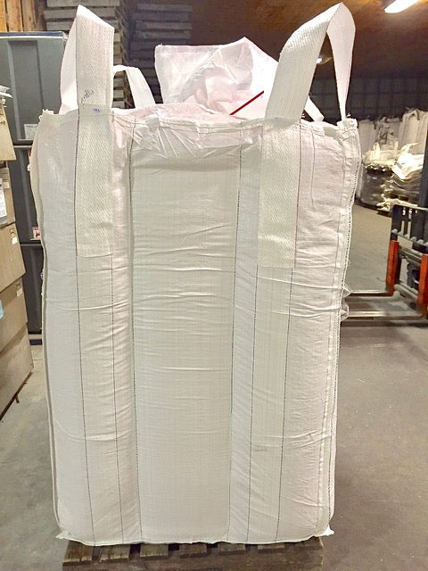 38 x 38 x 57 inch Bulk Bag 2200 pound SWL Skirt Top Discharge Spout Glued Liner