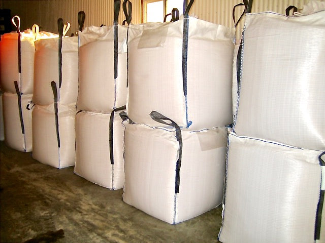 36 x 36 x 40 inch Bulk Bag 2200 pound SWL Skirt Top Flat Base