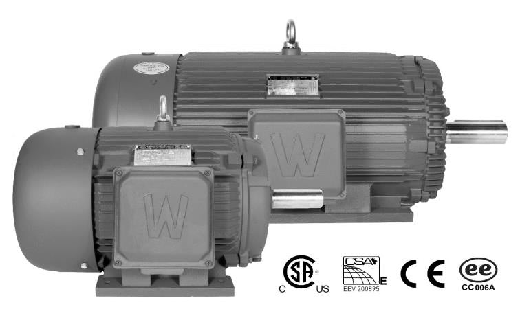 1.5 HP Three Phase Severe Duty Electric Motor