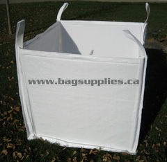 40 x 40 x 36 inch Bulk Bag 2200 pound SWL Open Top Flat Base Correx Self Standing