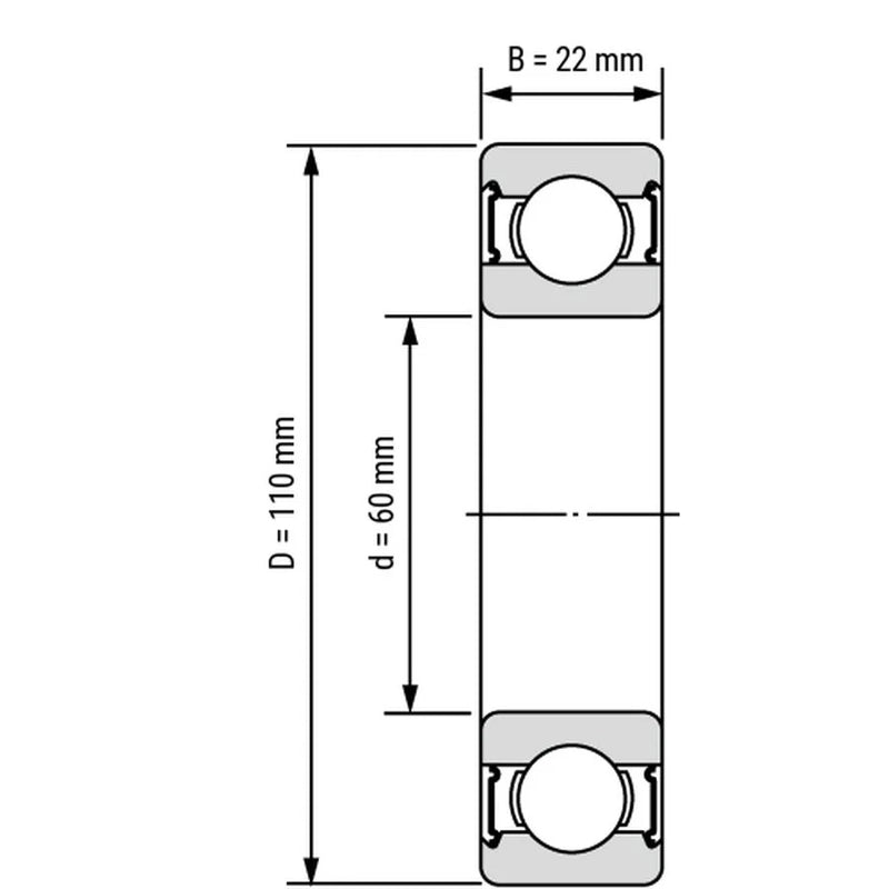 RKB 6212 2RS Bearing