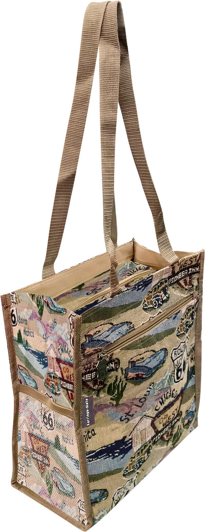 Route 66 Tapestry Travel Shopping Tote Bag - T312A#66