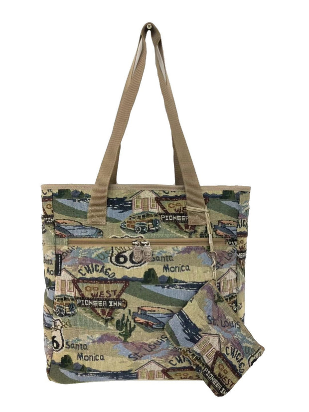Route 66 Tapestry Tote Bag - T3218A#66