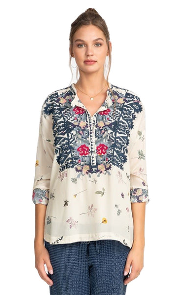 Johnny Was Nostra Silk Blouse - B10520A8