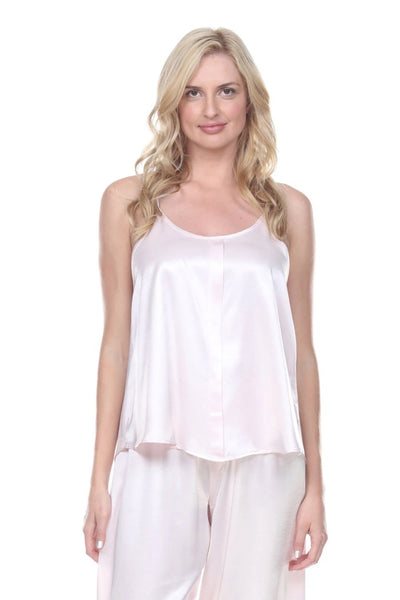 PJ Harlow Babe Satin Cami With Pleated Front And Adjustable Straps