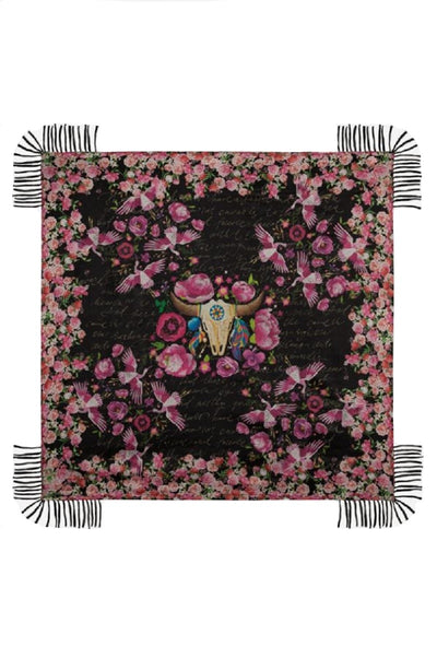 Johnny Was Rose Letter Scarf - C90520-8