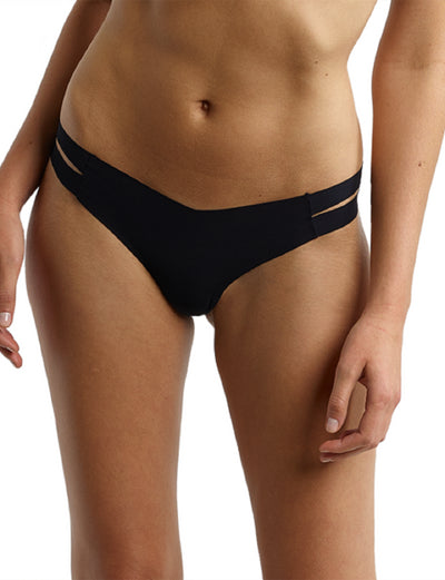 Commando Women's The Stripped Thong Panty - CT17