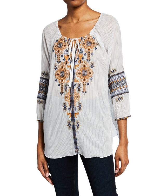 Johnny Was Amika Peasant Blouse - W12519-2