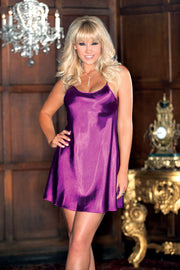 iCollection Sexy Satin Chemise - 7916X
