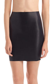 Commando Faux Leather Mini-Skort - SK08