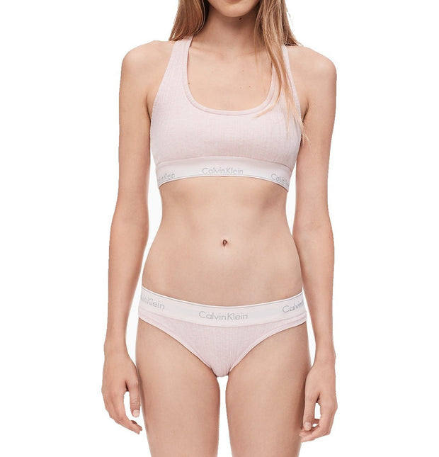 Calvin Klein Modern Cotton Ribbed Unlined Bralette - QF4952