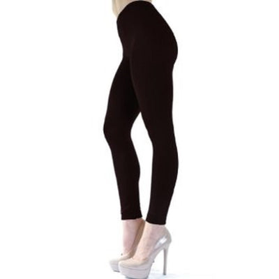 Angelina Seamless Fleece Tights Leggings One Size - 014
