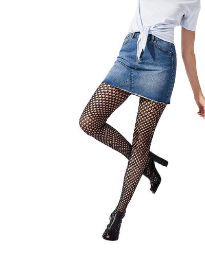Pretty Polly Diamond Net Tights One Size - PNAVT8