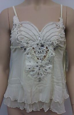 Leg Avenue Jewelled Embroidered Butterfly Babydoll, Ivory - 81106