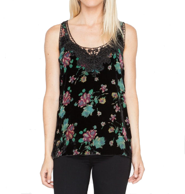 Johnny Was Women's Colorful Floral Burnout Tank - 1889LL