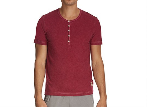 Buffalo David Bitton Men's Subyarn Terry Henley Round Neck Shirt - BD22318