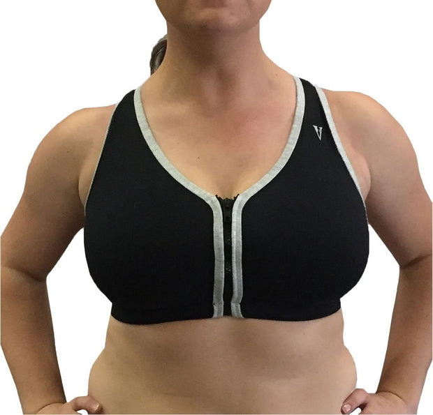 Valmont Zip Front Leisure and Sports Bra - 1611B