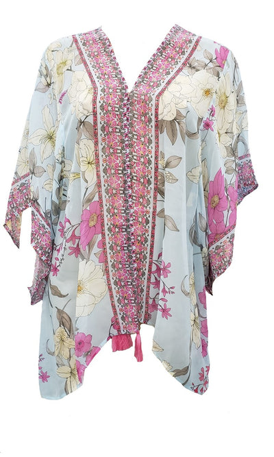 Johnny Was Belladona Printed Short Kimono - CSW6320-F