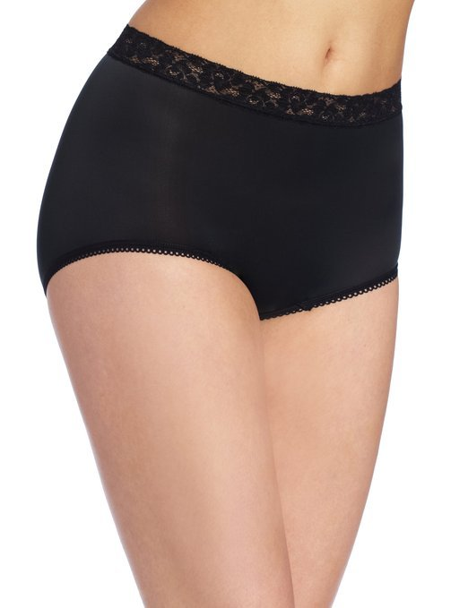 Wacoal Bodysuede Brief with Lace Waistband Panty - 89366