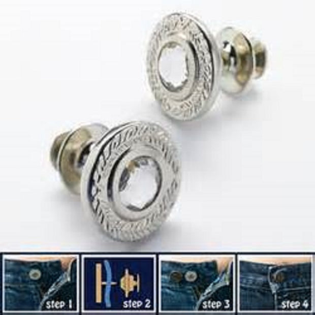 The Original Instant Button with Rhinestone For Jeans Removable Button