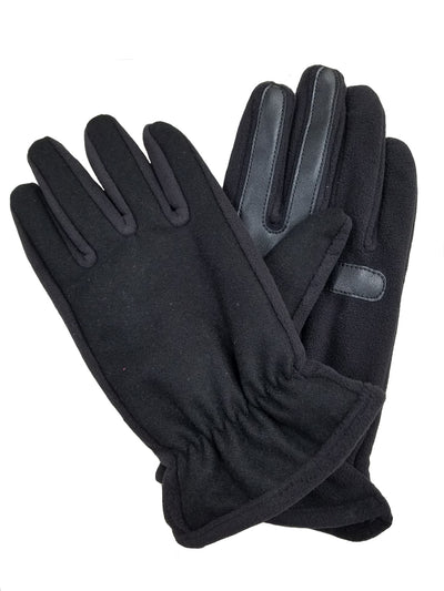Isotoner Men's Wool Blend Back Smartouch Thermaflex Gloves - A75614