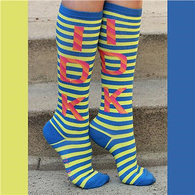 K. Bell Women's IDK Knee High Socks Blue - Lime One Size - 61731