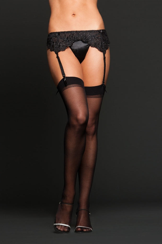 iCollection Lingerie Sheer thigh highs One Size - 8600