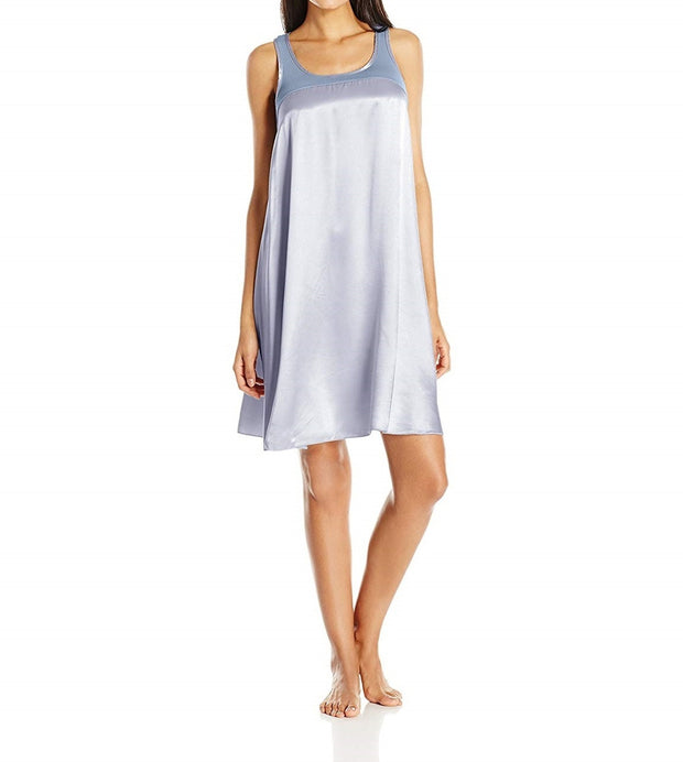 PJ Harlow Satin and Rib Nightgown Lindsay - PJD1S