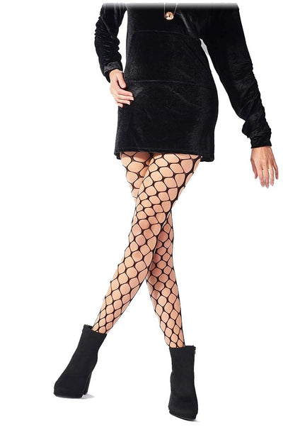 Pretty Polly Very Large Net Tights One Size Black - PNAVP6