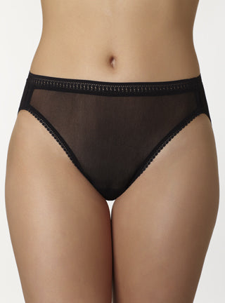 OnGossamer Mesh Hi Cut Brief Panties - 3012
