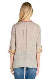 Johnny Was Salome Easy V-Neck Top - W13819-D