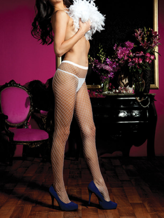 Seven 'til Midnight Diamond Fishnet Pantyhose One Size - 20311